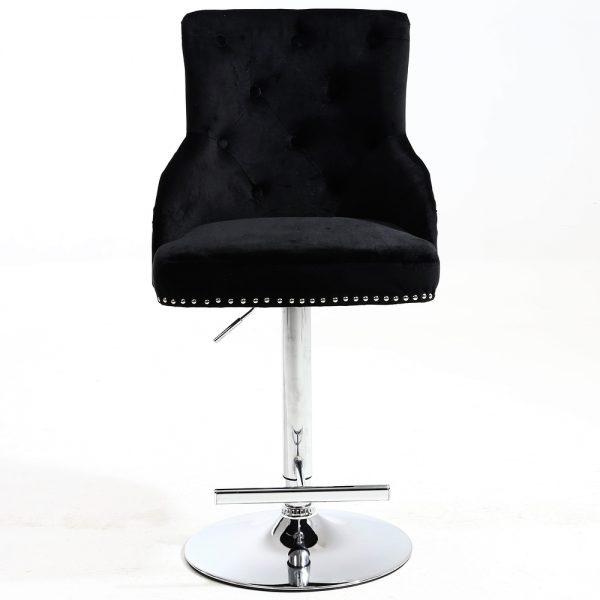 Majestic Black Fabric Bar Stool