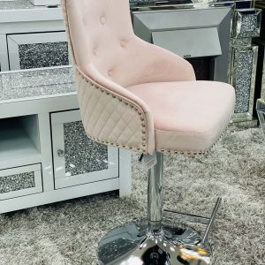 Majestic Pink Fabric Bar Stool