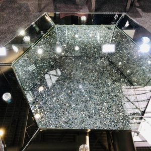Crushed Diamond Round Dining Table