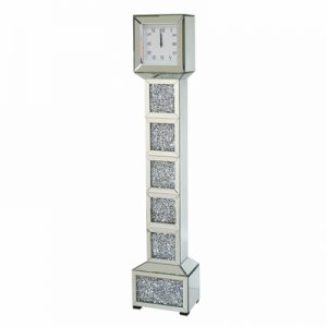 Crushed Diamond Floor Clock