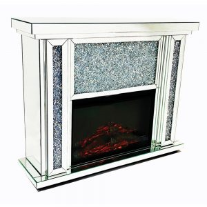 Crushed Diamond FirePlace With Electric Fire