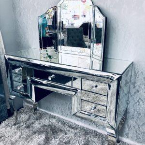Curved Mirrored Dresser