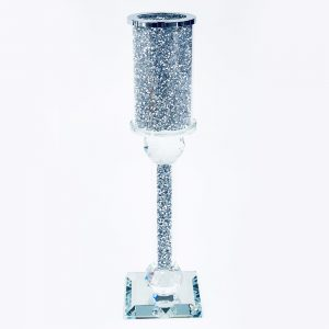 Crystal Crushed Candle Holder Medium