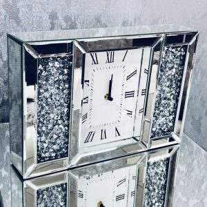 Crushed Diamond Table Clock
