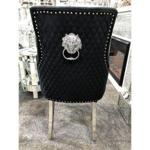 Majestic Black Velvet Dining Chair
