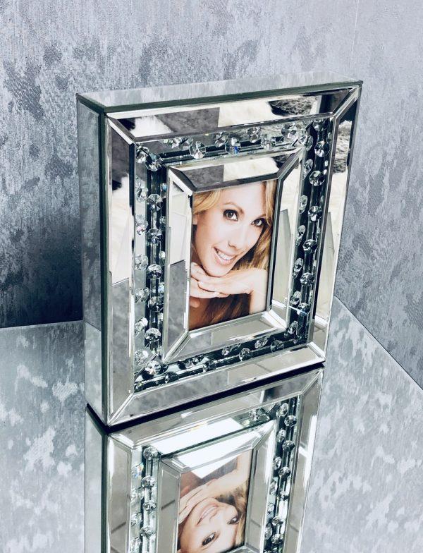 Floating Crystal Medium Photo Frame