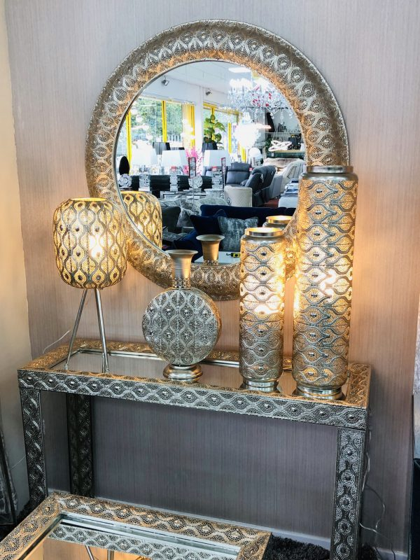 Metal Vase Lamp Large