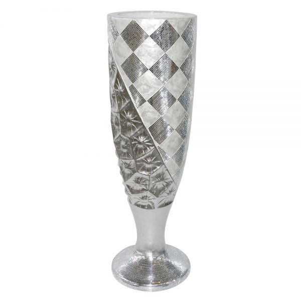 Diamond Mosaic Cone Vase