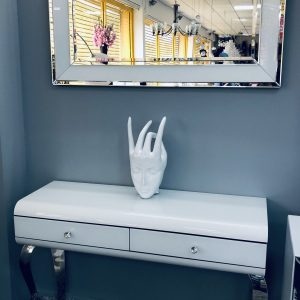 White Frame Wall Mirror
