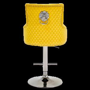 Majestic Mustard Fabric Bar Stool
